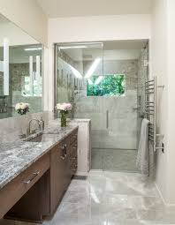 modern master bath for aging in place adam gibson design fortunate to live in a home created by the famous architectural designer avriel shull when this 70s bath flooded the owners who appreciate modern design