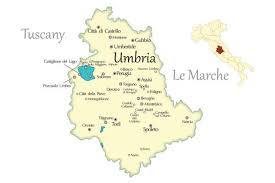 Italy Map With Cities by Umbria Cities Travel Map In Italy