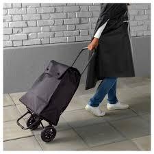 ikea wheeled cart knalla shopping bag with wheels black ikea