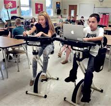 fit desk exercise bike bicycle desks motivate china middle students portland