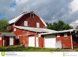 Red Barn Doors by Red Barn And Garage Stock Photo Image 82741075
