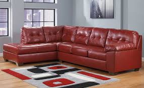 ashley furniture alliston 20100 salsa red sectional chaise sofa