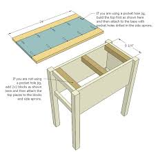 How To Build A Wood End Table by Ana White Narrow Cottage End Tables Diy Projects