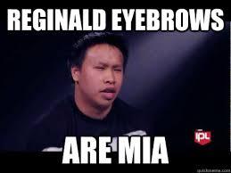 Reginald Meme - reginald eyebrows are mia regi quickmeme