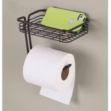 amazon com interdesign classico toilet paper holder with shelf