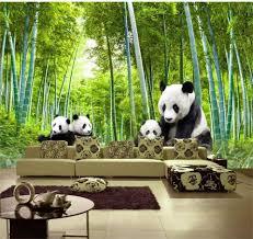 popular forest 3d wall murals buy cheap forest 3d wall murals lots 3d wallpaper custom photo non woven picture panda bamboo forest 3d wall murals wallpaper for