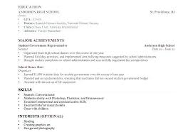 Resume Template For College Students by High School Resume Template No Work Experience Vasgroup Co