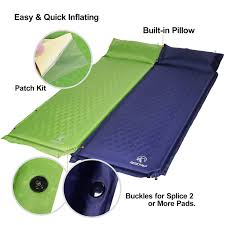 redcamp lightweight self inflating sleeping pad with attached