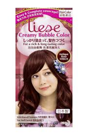 Hair Color To Cover Gray Kao Liese Soft Bubble Hair Color Antique Rose Cover Gray Hair