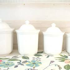 white kitchen canisters ceramic kitchen canister sets snaphaven