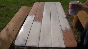 large wooden pieces large and small pieces of hail bounce a wooden walkway deck