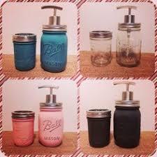 mason jar canister set by 4seasonsofprimitives on etsy 25 00