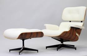 white italian leather ottoman furniture modern white italian leather eames lounge chair and