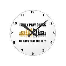 play chess wall clocks zazzle