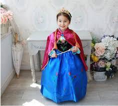 Anna Frozen Costume Frozen Dresses Spring Autumn Baby Child Kids Party Long