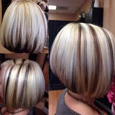 blonde bobbed hair with dark underneath blonde asymmetrical hair colors ideas