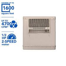 champion cooler 4700 cfm 2 speed window evaporative cooler for