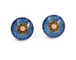 blue stud earrings blue stud earrings etsy