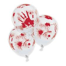 halloween blood splatter balloons pack of 6 halloween