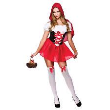 womens little red riding hood fairytale halloween fancy dress