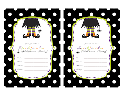 Halloween Birthday Ideas Halloween Birthday Party Invitations Free Printable