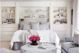 walls interiors small white wooden headboard with built in shelves