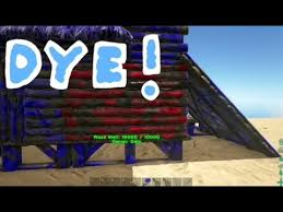 ark survival evolved how to make and use dye youtube