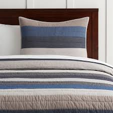 Blue And Gray Bedding Boys Quilts Pbteen