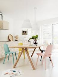 scandinavian interior decorations cheerful blue yellow color scheme combo for