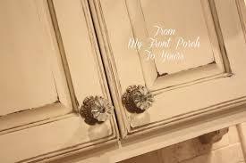 from my front porch to yours kitchen cabinet painting tutorial annie sloan chalk painted kitchen cabinets in old ochre