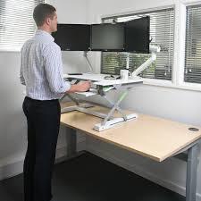 sit and stand desk platform deskrite 100 sit stand platform from posturite