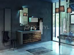 meuble de charme meuble de salle de bains suspendu vintage et design carrelage et