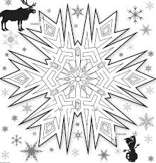 frozen snowflakes coloring pages