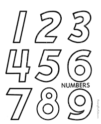 coloring sheet numbers
