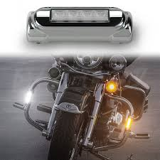 Light Bar For Motorcycle Chrome Motorcycle Highway Bar Switchback Driving Lights Drl Turnsignal