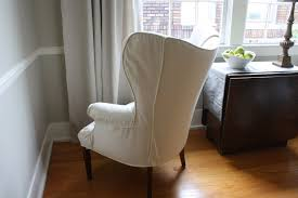 How To Make A Wing Chair Slipcover Dwell And Tell How To Add Padding Under Slipcovers Wing Chair