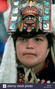 portrait of native american indian in traditional ceremonial