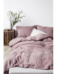 shoptagr ashes of roses stone washed linen duvet cover by linen