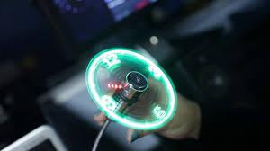 led light clock desk fan usb cool gadgets youtube