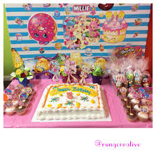 Home Made Cake Decorations by Here Is Our Shoppies Birthday Party Decorations Shopkinsworld