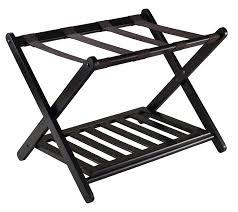 luggage racks for bedroom amazon com winsome 92436 luggage rack with shelf home kitchen