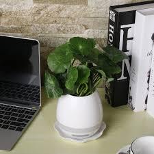 unique smart music flower pots bluetooth speakers night light