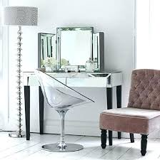 mirrored makeup vanity table vanity table set with mirror coaster frosted black wrought iron