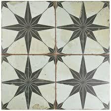 Floor And Decor In Atlanta Merola Tile Kings Star Nero 17 5 8 In X 17 5 8 In Ceramic Floor