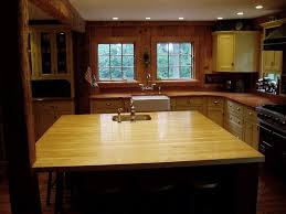 Maple Kitchen Island by Edge Grain Wood Countertops Brooks Custom