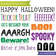 halloween phrases clipart halloween clip art boo trick or treat