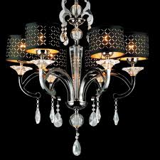 Chandelier With Black Shades Brizzo Lighting Stores 29