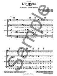 santiano santiano vocal score ttbb sheet ebay