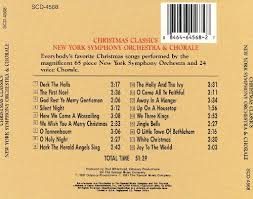 christmas classics new york symphony orchestra u0026 chorale songs