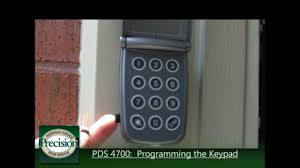 Precision Overhead Garage Doors by How To Program The Pds 4700 Keypad Youtube